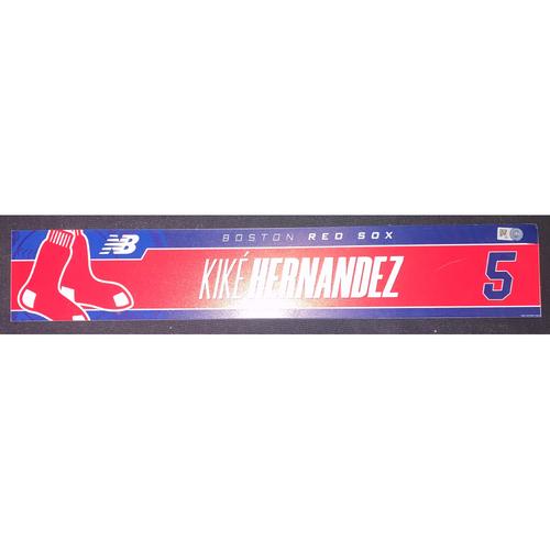 Photo of Enrique Hernandez September 5, 2021 Team Issued Locker Tag