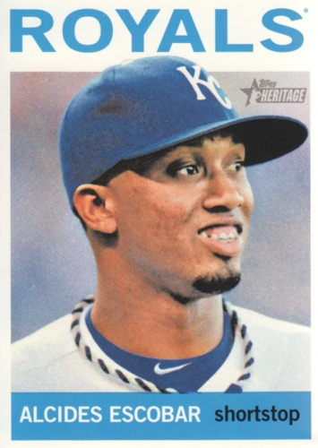 Photo of 2013 Topps Heritage #203 Alcides Escobar