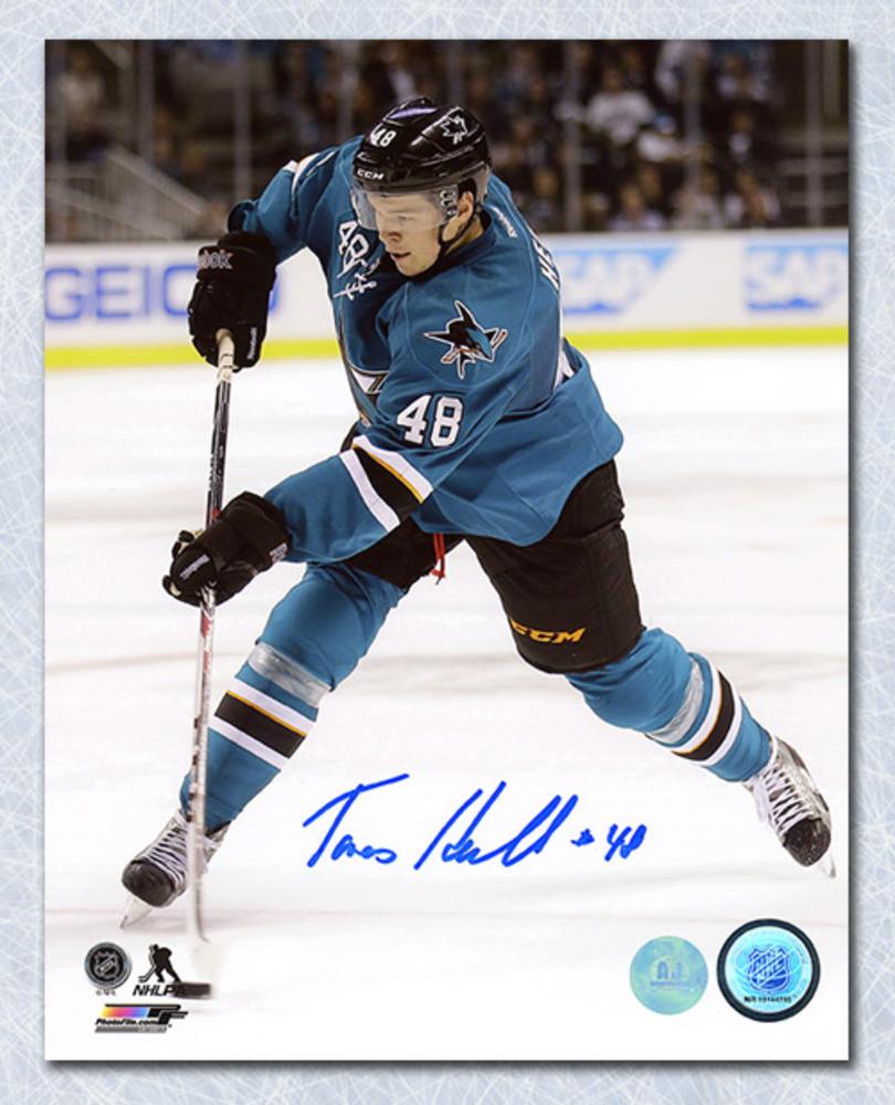 Tomas Hertl Autographed San Jose Sharks Slapshot 8x10 Photo