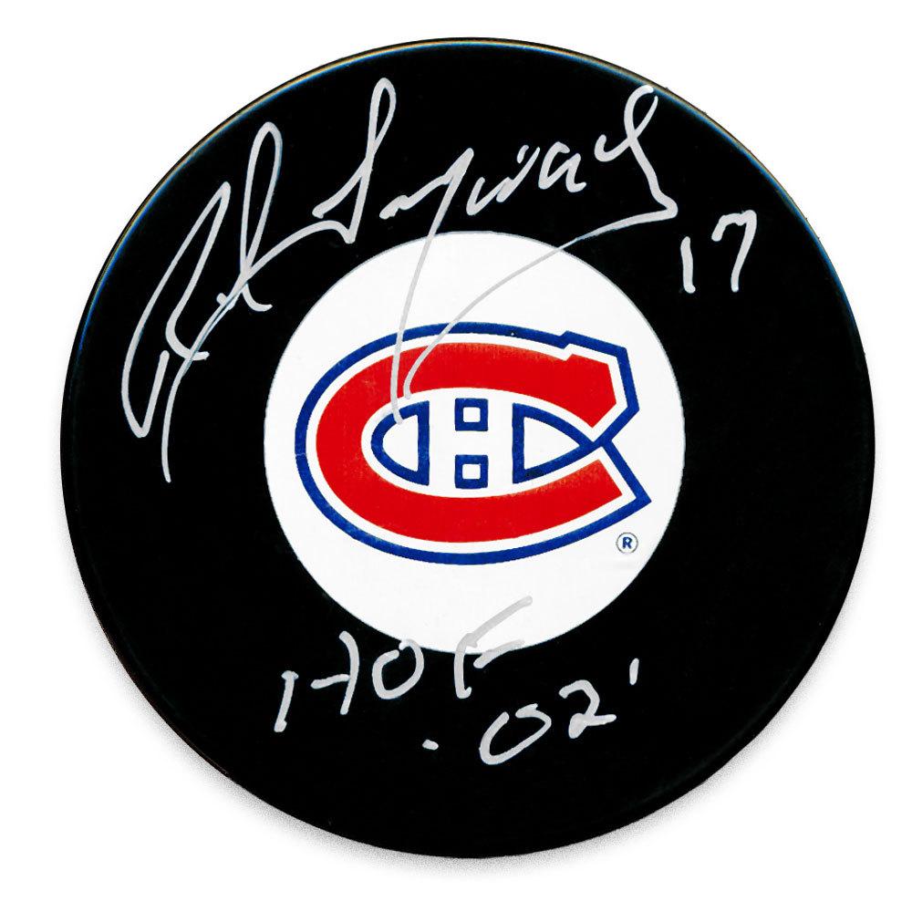 Rod Langway Montreal Canadiens HOF Autographed Puck