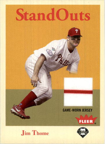 Photo of 2005 Fleer Tradition Standouts Jersey #JT Jim Thome