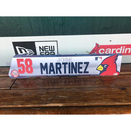 Cardinals Authentics: Jose Martinez Opening Day Locker tag