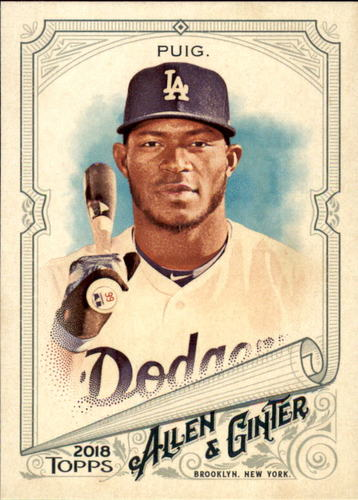 Photo of 2018 Topps Allen and Ginter #68 Yasiel Puig