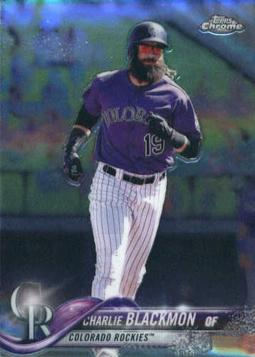 Photo of 2018 Topps Chrome #194 Charlie Blackmon