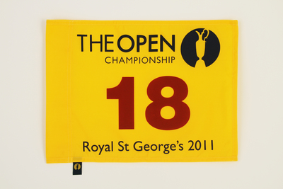 The 140th Open Official Souvenir Pin Flag - Royal St George's 2011