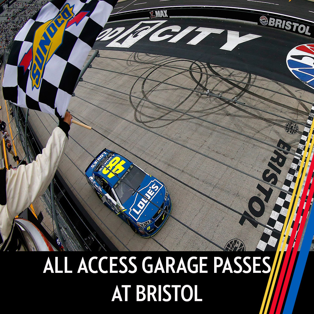 All Access Garage Passes at Bristol for the entire race weekend!
