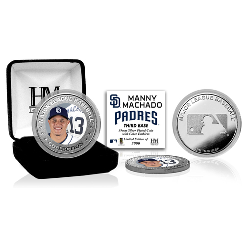 Photo of Manny Machado Padres Silver Color Coin