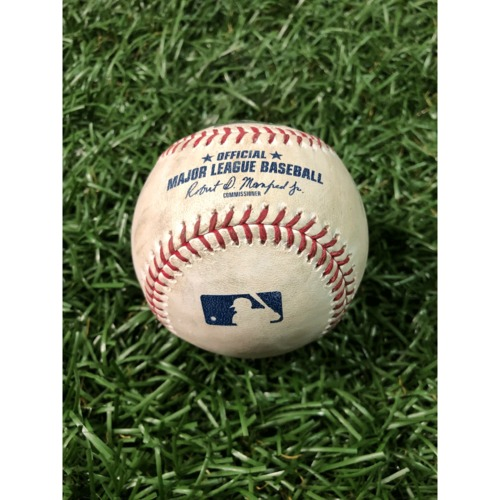 Photo of Game-Used Baseball: Ryne Stanek strikes out Charlie Blackmon - April 1, 2019 v COL