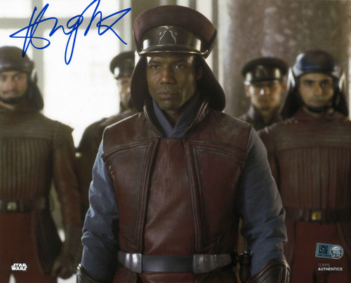 Hugh Quarshie As Captain Panaka  8X10 AUTOGRPAHED IN 'BLUE' INK PHOTO