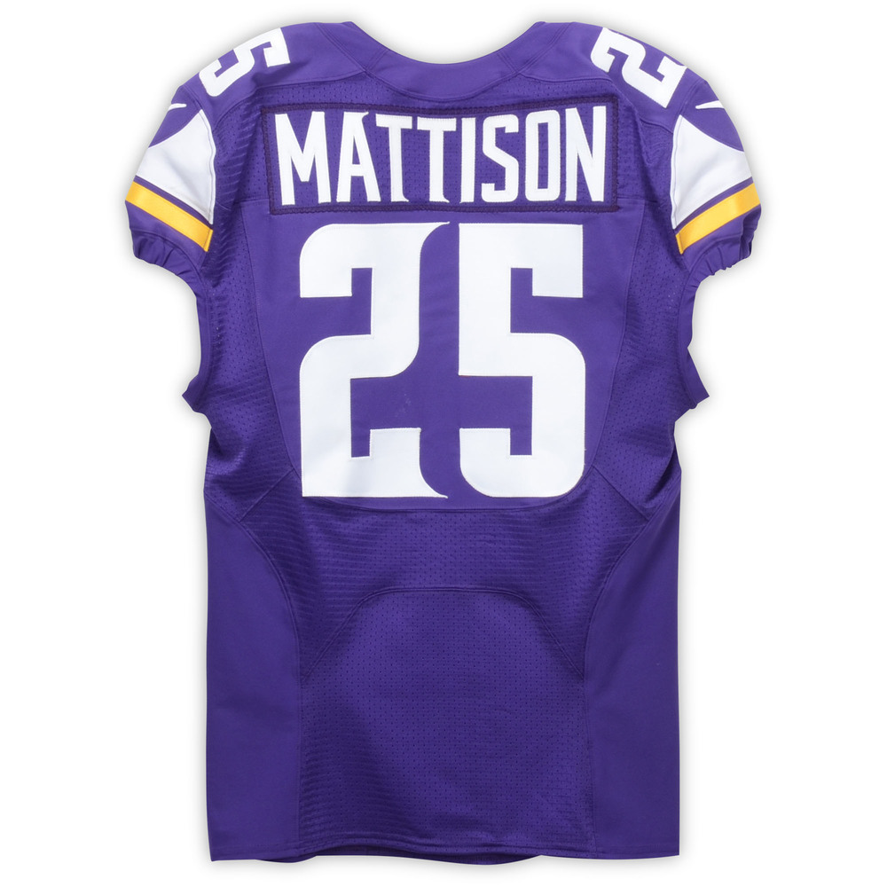 innovative design 2750d bbc98 Alexander Mattison Minnesota Vikings Event-Worn 2019 NFLPA ...
