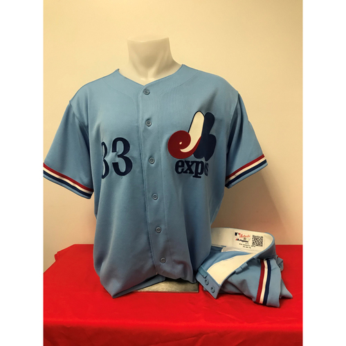 Photo of Matt Grace Expos Gear: Game-Used Jersey and Game-Used Pants