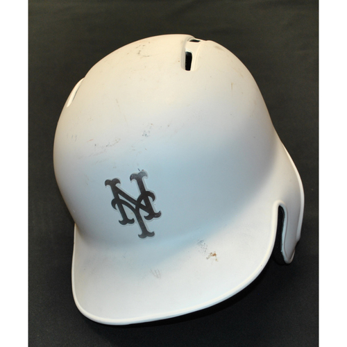 "Photo of Juan ""JUAN JR"" Lagares New York Mets Game-Used 2019 Players' Weekend Helmet"