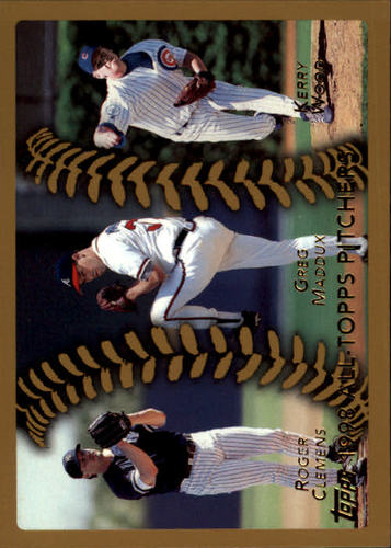 Photo of 1999 Topps #460 Clemens/Wood/Maddux AT