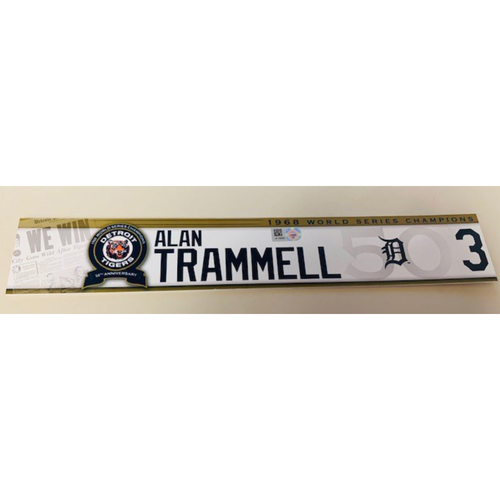 Photo of Game-Used Locker Name Plate: Alan Trammell