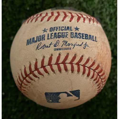 Photo of Dansby Swanson Game Used Hit Double Baseball - June 12, 2019