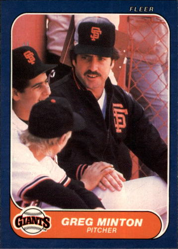 Photo of 1986 Fleer #549 Greg Minton