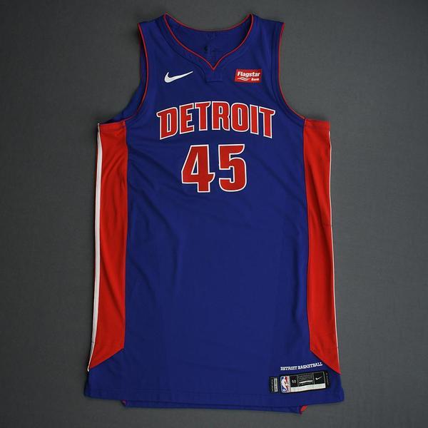 Image of Sekou Doumbouya - Detroit Pistons - Game-Issued Icon Edition Rookie Season Jersey - 2019-20 Season