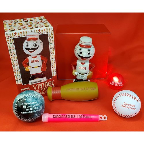 Photo of 5-Piece Kids Pack in Red Box with Mr. Redlegs Bobblehead