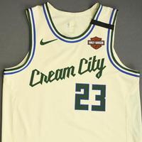 Sterling Brown - Milwaukee Bucks - Game-Worn City Edition Jersey - Dressed, Did Not Play - 2019-20 NBA Season