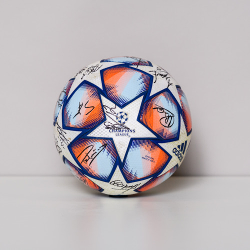 Photo of 20/21 Champions League Ball signed by the Olympiacos FC Team
