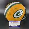 PCF - Packers Corey Linsley Signed Proline Helmet