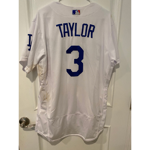 Photo of Chris Taylor 2020 Game-Used Home Wild Card Game Jersey - Game 1