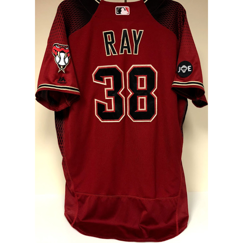 Robbie Ray - 2016 Team Issued Jersey - Red Alternate