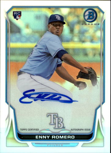 Photo of 2014 Bowman Chrome Rookie Autographs Refractors #BCARER Enny Romero