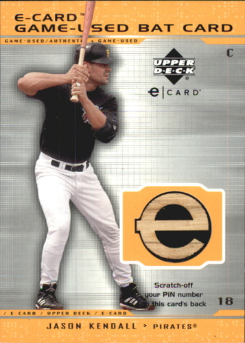 Photo of 2001 Upper Deck Evolution e-Card Game Bat #BJK Jason Kendall