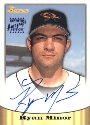 Photo of 1998 Bowman Certified Blue Autographs #18 Ryan Minor