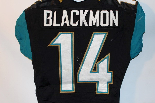 NFL Auction | INTERNATIONAL SERIES JAGUARS JUSTIN BLACKMON GAME ...