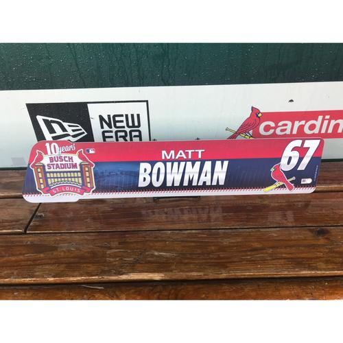 Cardinals Authentics: Matt Bowman Locker tag