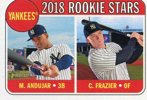 Photo of 2018 Topps Heritage #114 Clint Frazier RC/Miguel Andujar RC