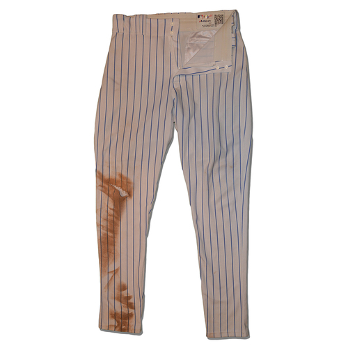 Photo of Asdrubal Cabrera #13 - Game Used White Pinstripe Pants - Mets vs. Rangers - 8/8/17