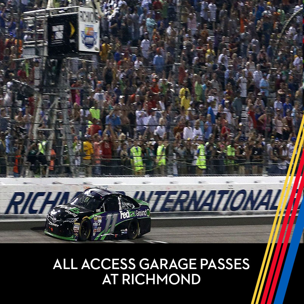 All Access Garage Passes at Richmond Raceway for the entire race weekend!