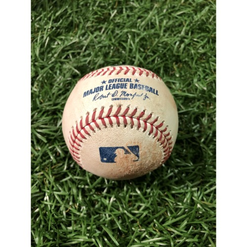 Photo of Game-Used Baseball: Kevin Kiermaier double off Carlos Estevez - April 2, 2019 v COL
