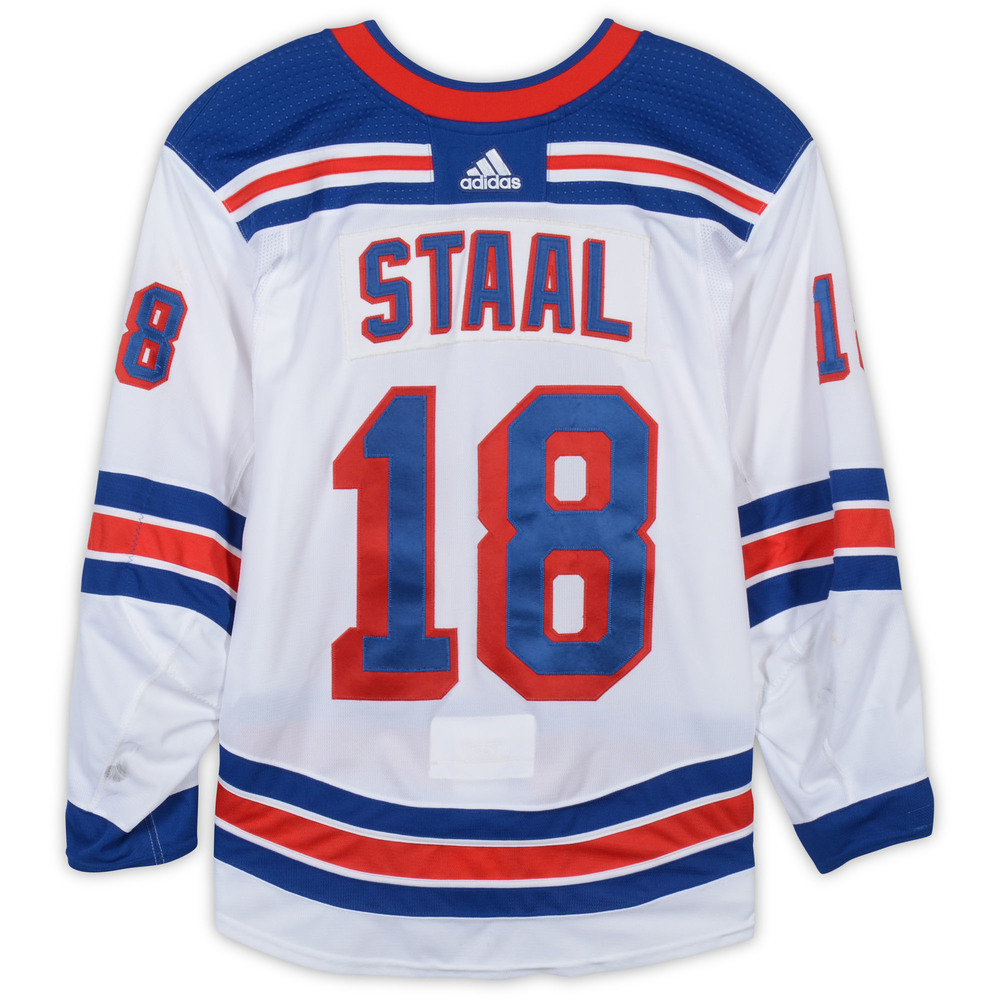 Marc Staal New York Rangers Game-Used #18 White Set Jersey with