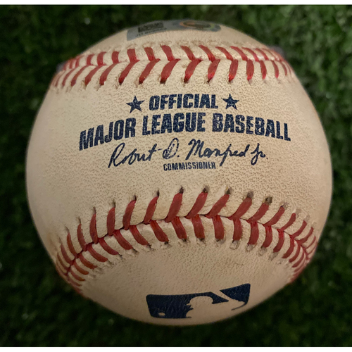 Photo of Yan Gomes Game Used Hit Single Baseball - September 6, 2019