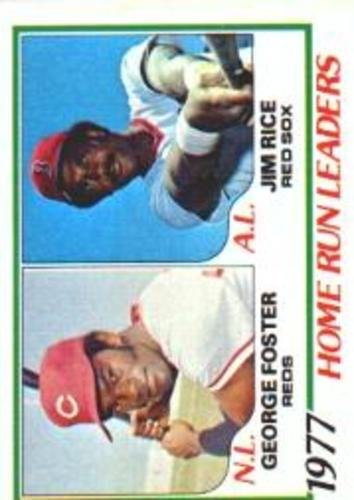 Photo of 1978 Topps #202 Home Run Leaders DP/George Foster/Jim Rice