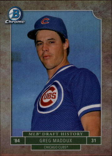 Photo of 2016 Bowman Chrome Draft MLB Draft History #MLBDGM Greg Maddux