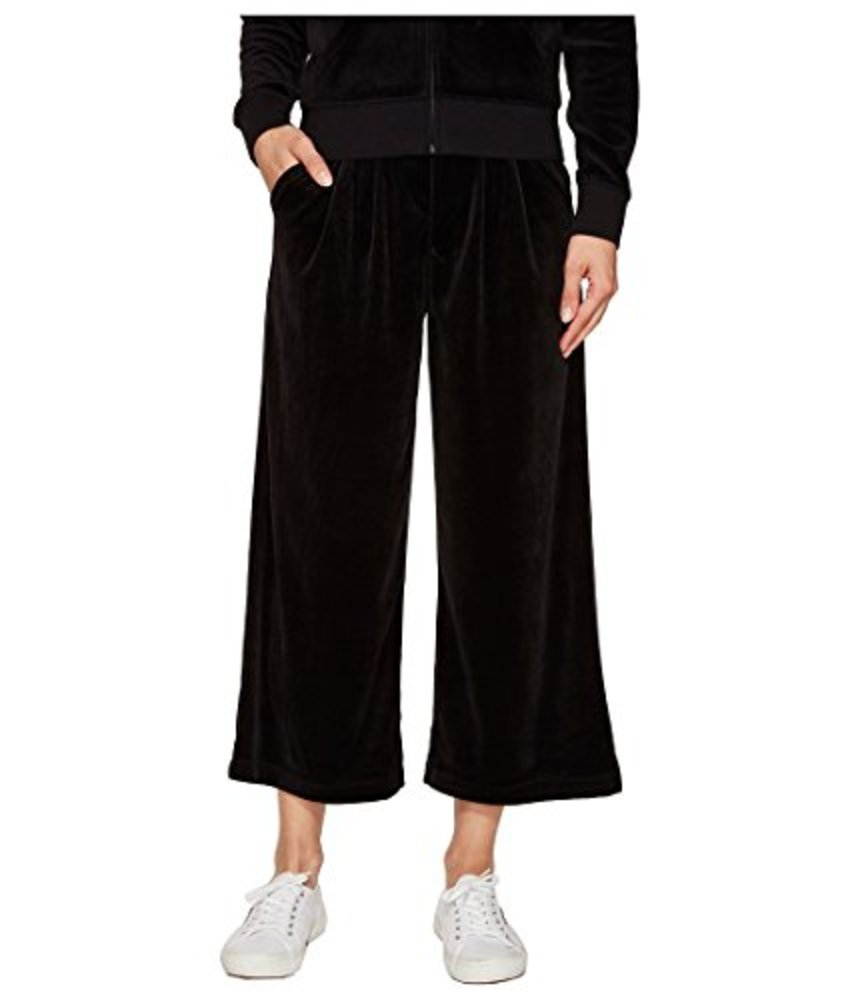 Photo of Juicy Couture Black Label Women's Lightweight Velour Cropped Wide Leg