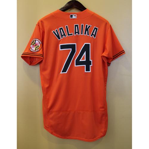 Photo of Pat Valaika - Orange Alternate Jersey (GW RBI single): Game Used