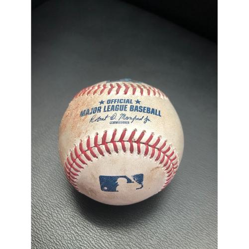 Photo of Game Used Baseball: Pitcher:  Taijuan Walker, Batter: Max Muncy (Home Run)- Top 2nd (LAD @ SEA -8/19/2020)