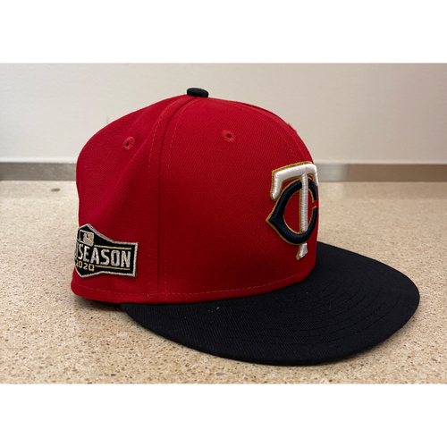 Photo of Minnesota Twins 2020 Home Red Team-Issued Postseason Cap - Choose your number and size!