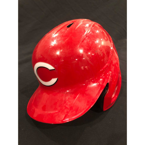 Photo of Curt Casali -- 2020 Game-Used Helmet -- Worn for Reds Opening Day on July 24 vs. Tigers -- Helmet Scheduled to Arrive Prior to Dec 24
