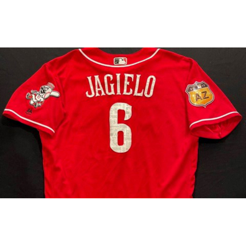 JAGIELO -- Authentic Reds Jersey -- $1 Jersey Auction -- $5 Shipping -- Size 46 (Not MLB Authenticated)