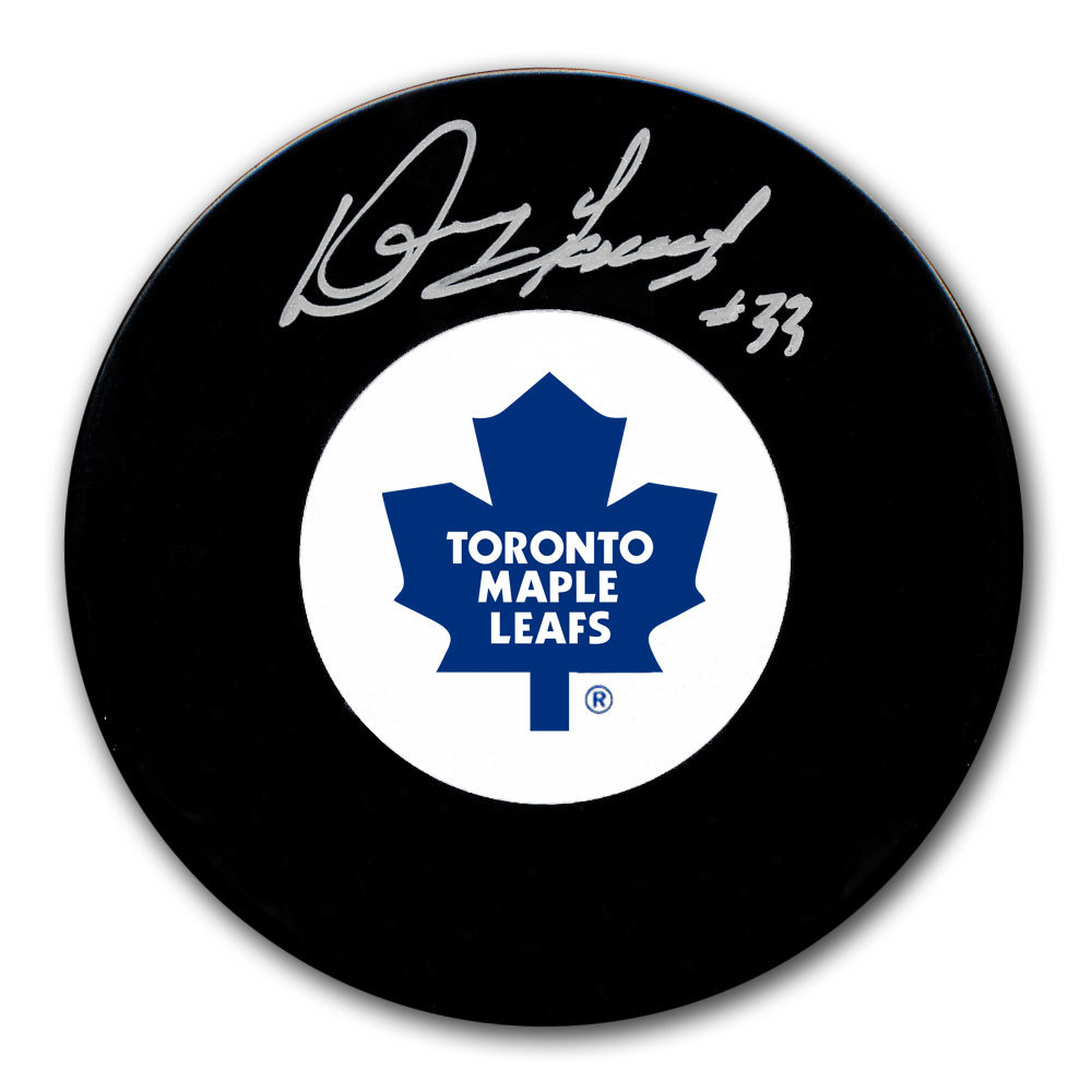 Doug Favell Toronto Maple Leafs Autographed Puck