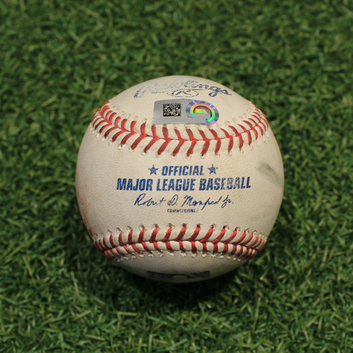 Photo of Game-Used Baseball: Austin Hedges 294th Career Hit & 176th Career RBI (CLE@KC 9/29/21)