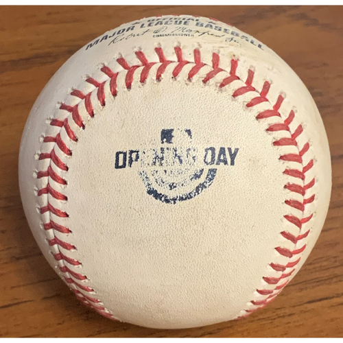 Photo of Tampa Bay Rays at Boston Red Sox April 5, 2018 Game Used Ball