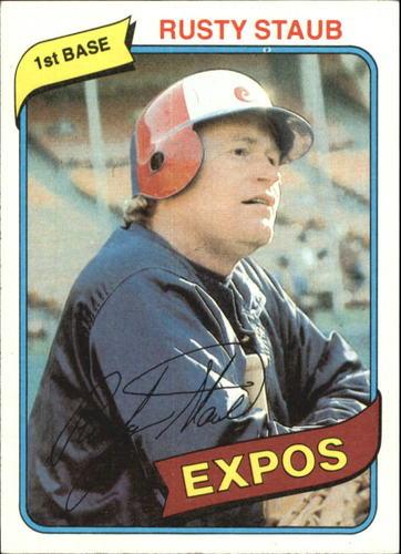 Photo of 1980 Topps #660 Rusty Staub